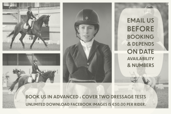 Cover Two Dressage Tests Unlimited Download Facebook Images is €50.00 per Rider.
