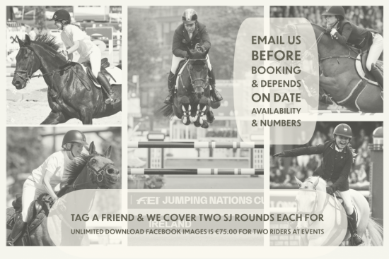 Tag A Friend and We Cover Two SJ Rounds Each For Unlimited Download Facebook Images Is €75.00 For Two Riders At Events
